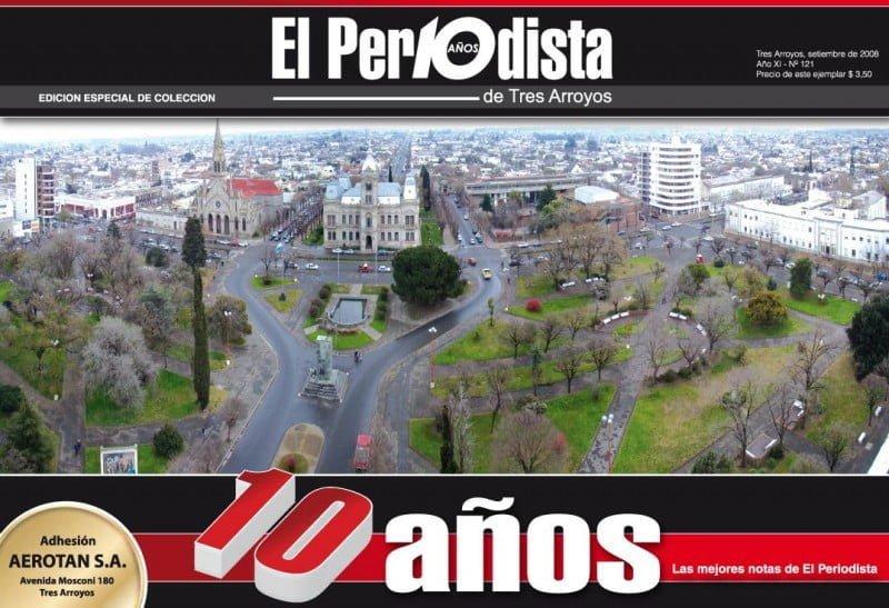 Tapa 10 años de El Periodista de Tres Arroyos