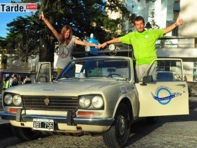 """Cinco países transitaron y disfrutaron ya Belén D'Arcángelo y Diego Milanesi, """"viajando para que la vida no se nos escape"""", según comentaron a un medio colombiano. Foto: LaTarde.com"""