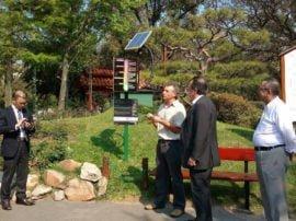 """""""Hemos exhibido un par de solmáforos a modo de prueba piloto o demostración en Pinamar y también lo mostramos en Tecnópolis, en el stand del CONICET. Recientemente uno de ellos fue inaugurado en el Jardín Japonés, de Buenos Aires. Este último es el único instalado de manera permanente en todo el país"""", contó Wolfram"""