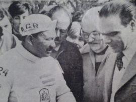 Antes de la largada, junto al intendente Carlos Alberto De Leo