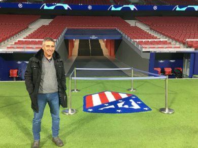 """Por segunda vez, el entrenador Gustavo """"Cacho"""" Córdoba tuvo la oportunidad de compartir entrenamientos y partidos relevantes del Atlético de Madrid"""