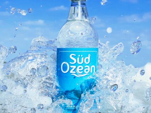 """""""Südozean"""" es, según estiman sus creadores, la primera agua de mar embotellada que se comercializa en Argentina"""