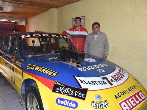 Hugo y Francisco Andrada (padre e hijo), dos fierreros de alma, crearon una réplica del Falcon de Eduardo Marcos