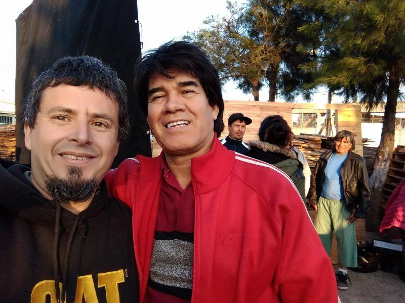 """Franco Burattini y Jorge Román, coordinando las peleas de la serie """"Monzón"""""""