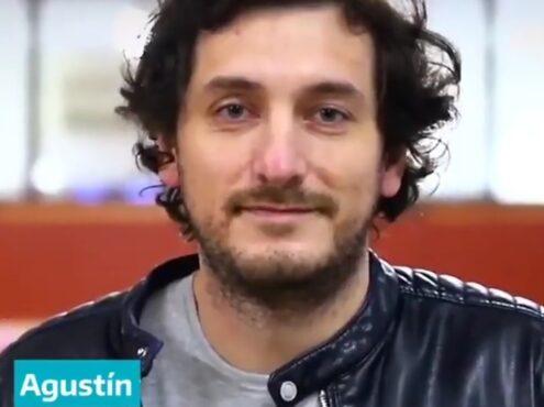 El rostro de Agustín Torres forma parte de la campaña de la Provincia de Buenos Aires para la donación de plasma de recuperados de COVID-19