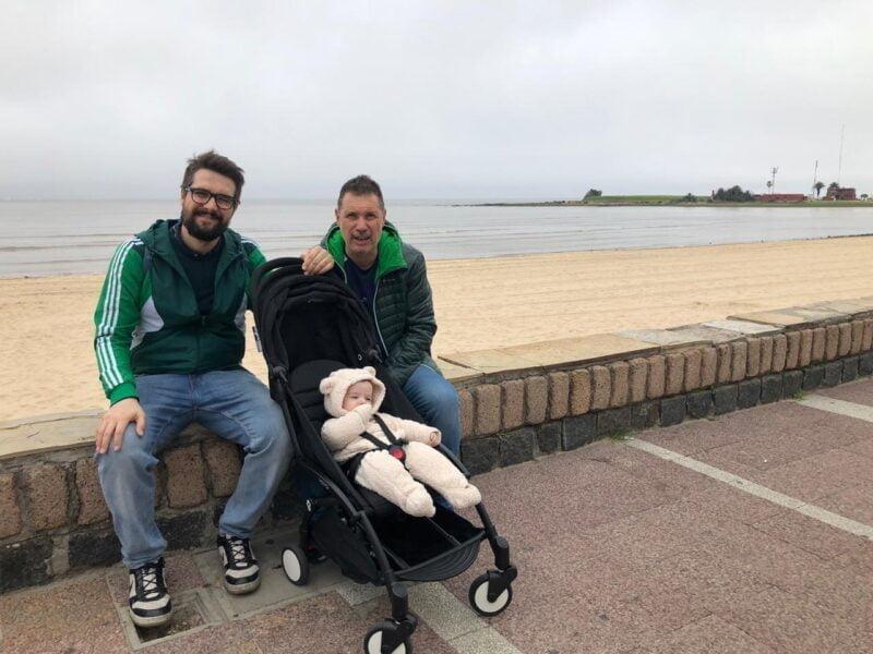 En Montevideo, Uruguay, otro de los destinos elegidos por Jorge Turienzo y familia