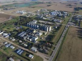 Una vista aérea del Parque Industrial de Tres Arroyos; de los dos últimos fideicomisos, uno está prácticamente vendido y en el otro se comercializaron ya 28 lotes