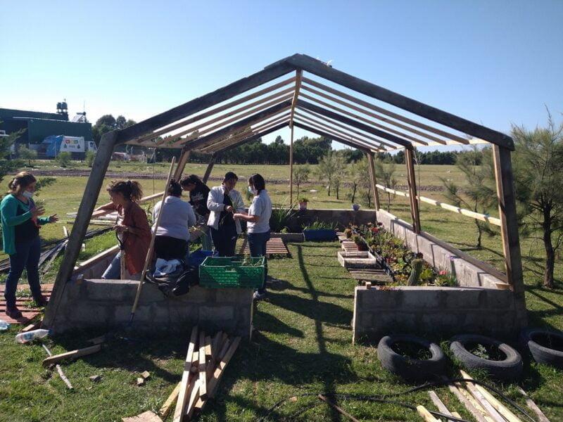 """""""Reciclando Vida"""" participa de distintas ferias locales, donde lleva sus plantas para la venta. Además cuenta con una página en Facebook"""